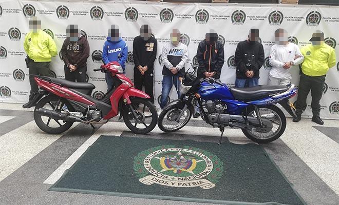 Capturados un coordinador y seis integrantes del grupo delincuencial común organizado 'los del doce'.