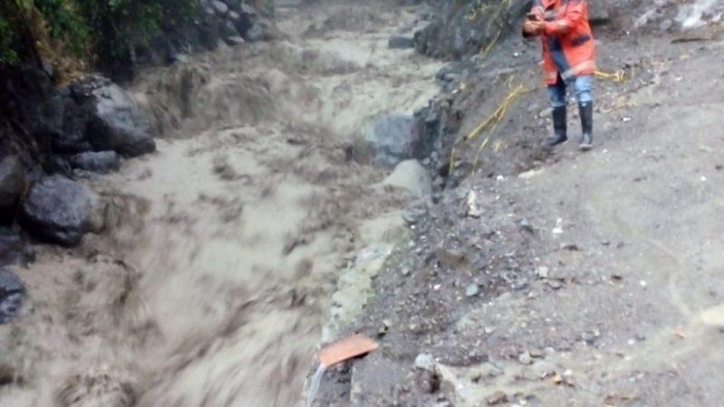 Tras fuertes lluvias, quebradas La Desmotadora y Cañada Seca en Dabeiba presentaron crecientes súbitas