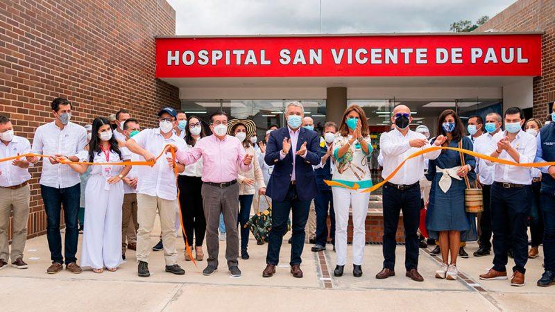 Presidente Duque entregó el nuevo Hospital San Vicente de Paúl, de Gramalote