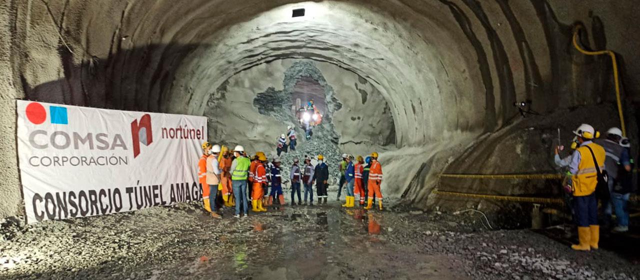 El Túnel de Amagá anticipó la finalización de la excavación de la calzada izquierda