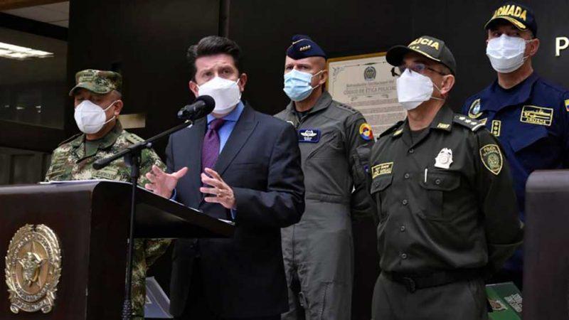 Ministro de Defensa rechaza ataques a la Fuerza Pública registrados durante las últimas horas en el país