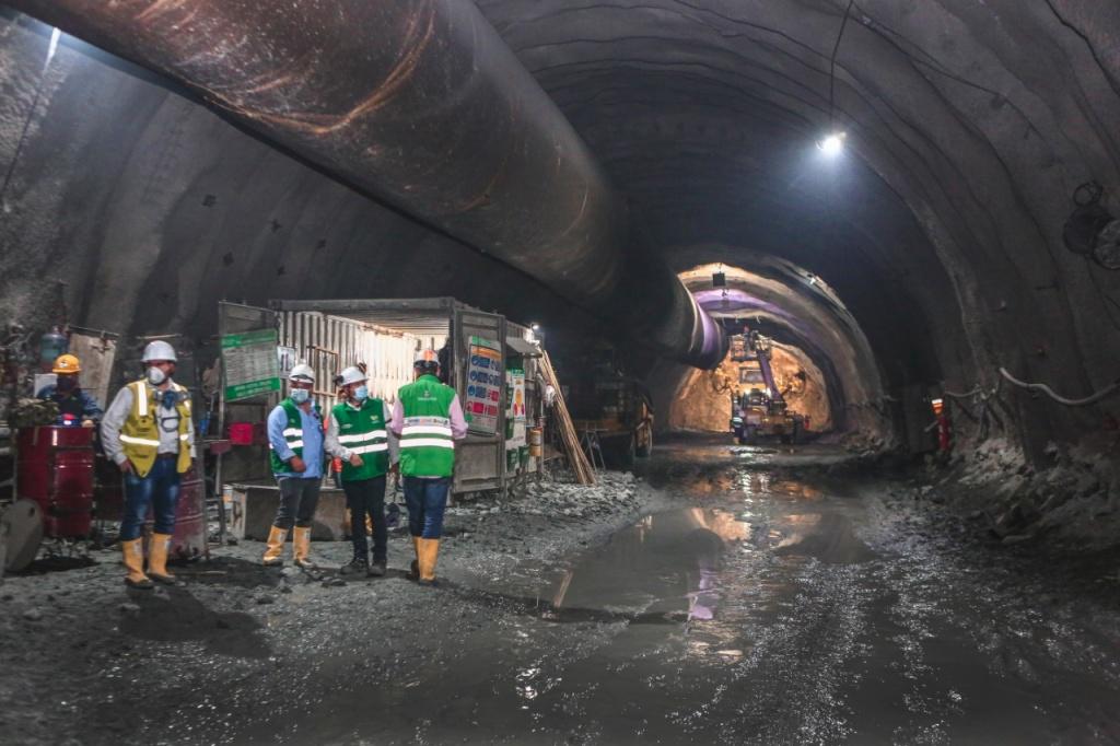 Cero contagiados por Covid -19 en obras del Túnel Guillermo Gaviria Echeverri, tras el tercer pico de la pandemia en Antioquia