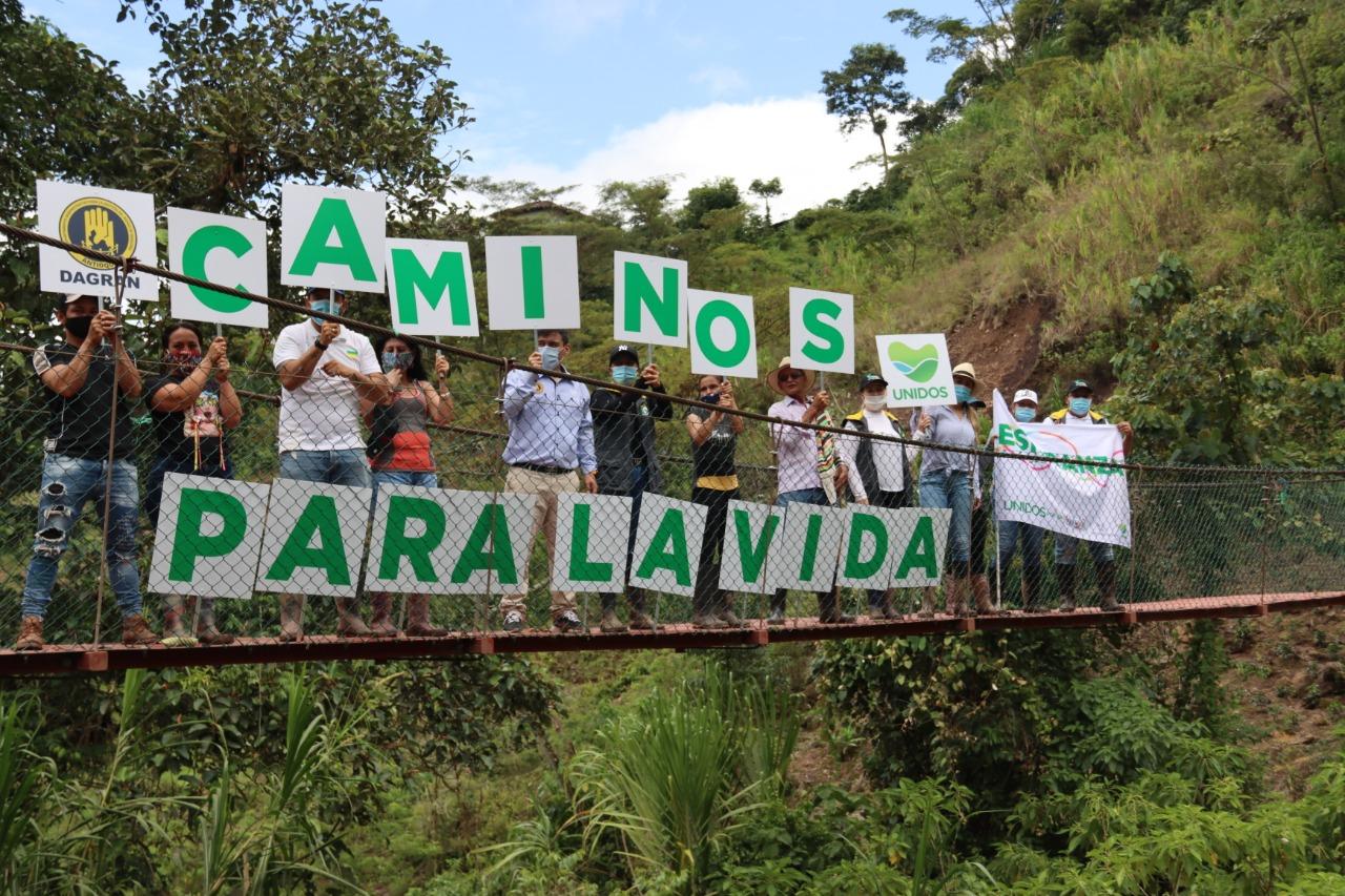 Caminos para la Vida a Caramanta beneficiaran 700 personas con un puente peatonal