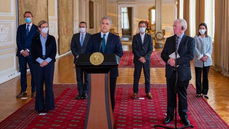 Presidente Duque agradece a la UE su solidaridad y condena frente al ataque terrorista en Cúcuta
