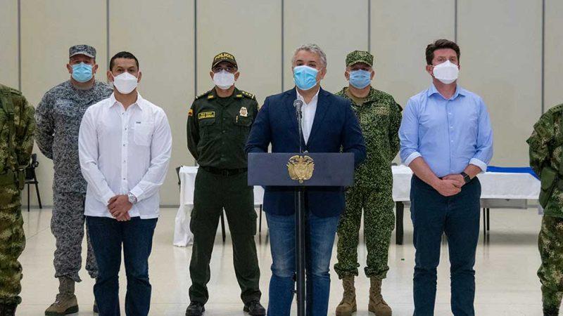 Presidente Duque felicita a la Fuerza Pública por captura de alias 'Macho', jefe principal de los 'Pelusos'