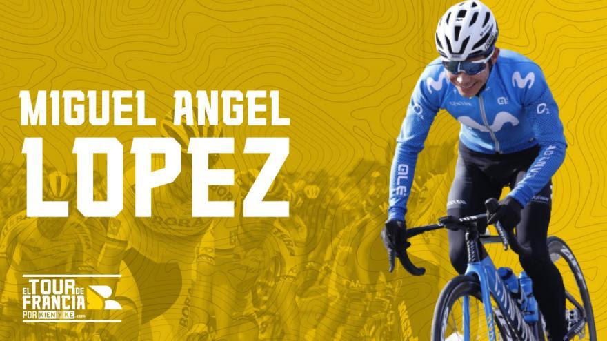 Miguel Ángel López, candidato a ser parte del top 10 en el Tour de Francia