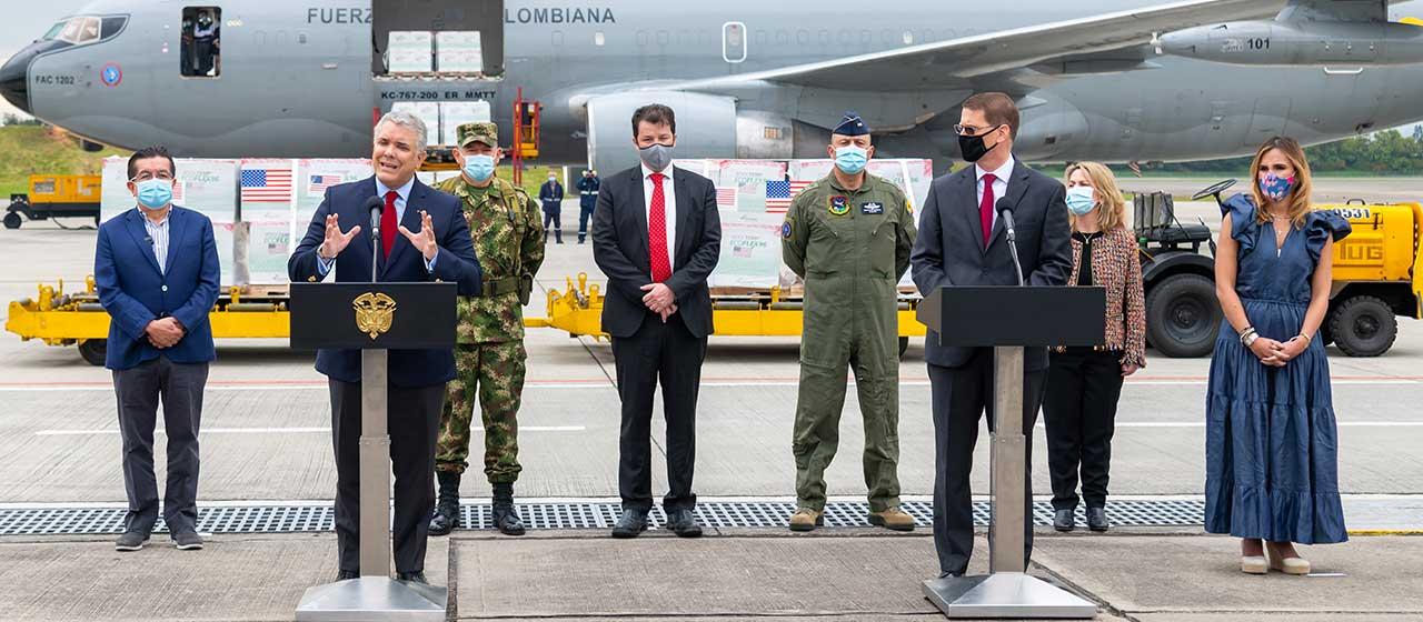 Con donación de 2,5 millones de vacunas, EE.UU. ratifica que es el principal aliado de Colombia: Duque