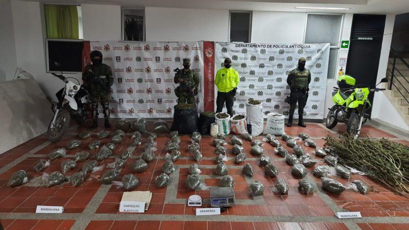 Se incautaron de 154 kilos de marihuana en Sonson