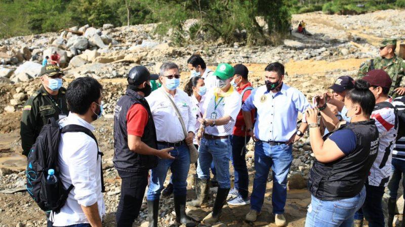 Antioquia presente en Briceño,tras avenida torrencial e inundaciones
