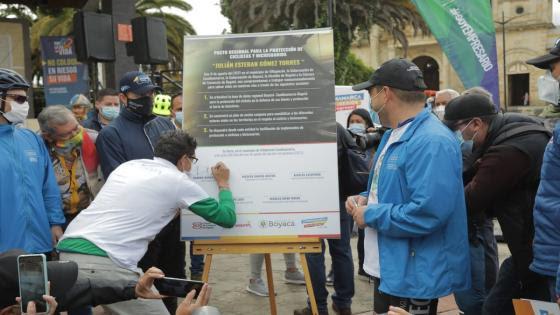 El Pacto regional que protege a los ciclistas, en homenaje a Julián Gómez
