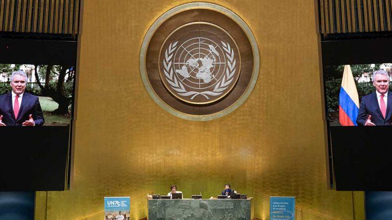 Ante la ONU, Duque convoca al mundo a avanzar con equidad en la distribución de las vacunas contra el covid-19