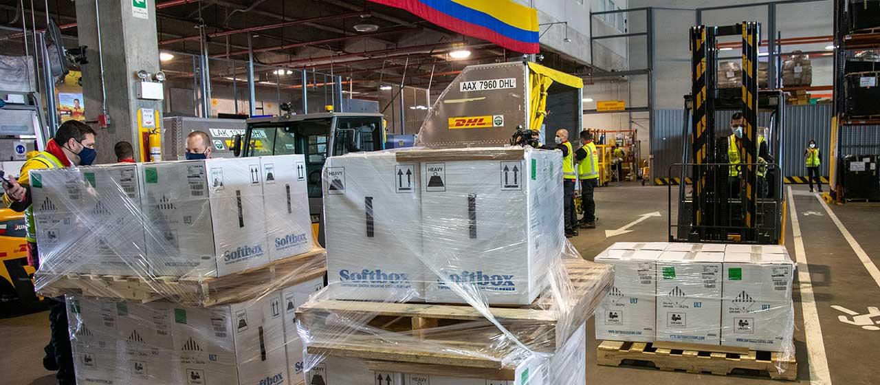 Colombia recibió 339.300 dosis de vacunas de Pfizer