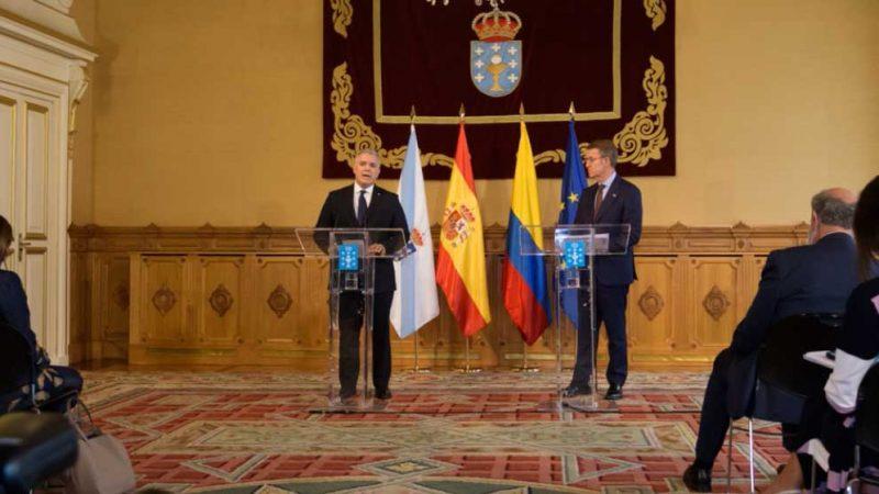 Duque invita al Presidente de Galicia a visitar Colombia con una misión empresarial para aumentar la inversión y el comercio
