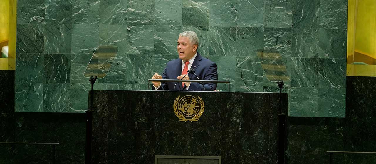 Ante la ONU, Presidente Duque urge acciones que fortalezcan financiamiento para la pandemia y el cambio climático