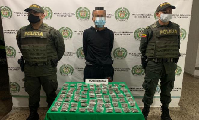 "Fue capturado un hombre conocido como ""cabezón"" en Montenegro con estupefacientes"