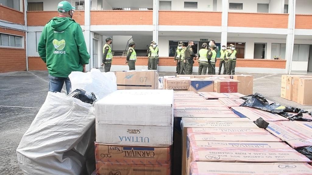 Duro golpe al contrabando de cigarrillo en Antioquia