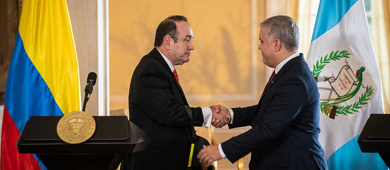 Colombia y Guatemala acuerdan trabajar juntas en lucha contra drogas y fortalecer comercio e inversión