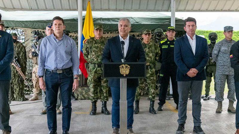La captura de alias 'Otoniel' es el golpe más duro que la Fuerza Pública le ha propiciado al narcotráfico en este siglo: Duque